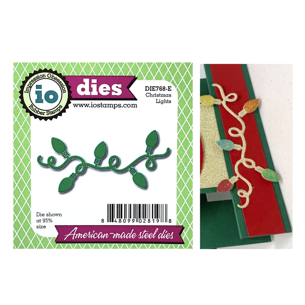 Christmas Lights Die Cut by Impression Obsession Dies DIE768-E - Inspiration Station Scrapbook Store & Retreat
