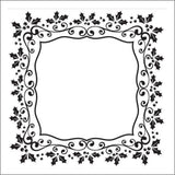 Christmas Rectangle Holly Frame Embossing Folder by Nellie Snellen EFE025 - Inspiration Station Scrapbook Store & Retreat