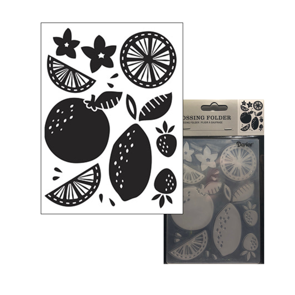 Citrus Fruit Embossing Folder By Darice Embossing Folders 30041267 - Inspiration Station Scrapbook Store & Retreat