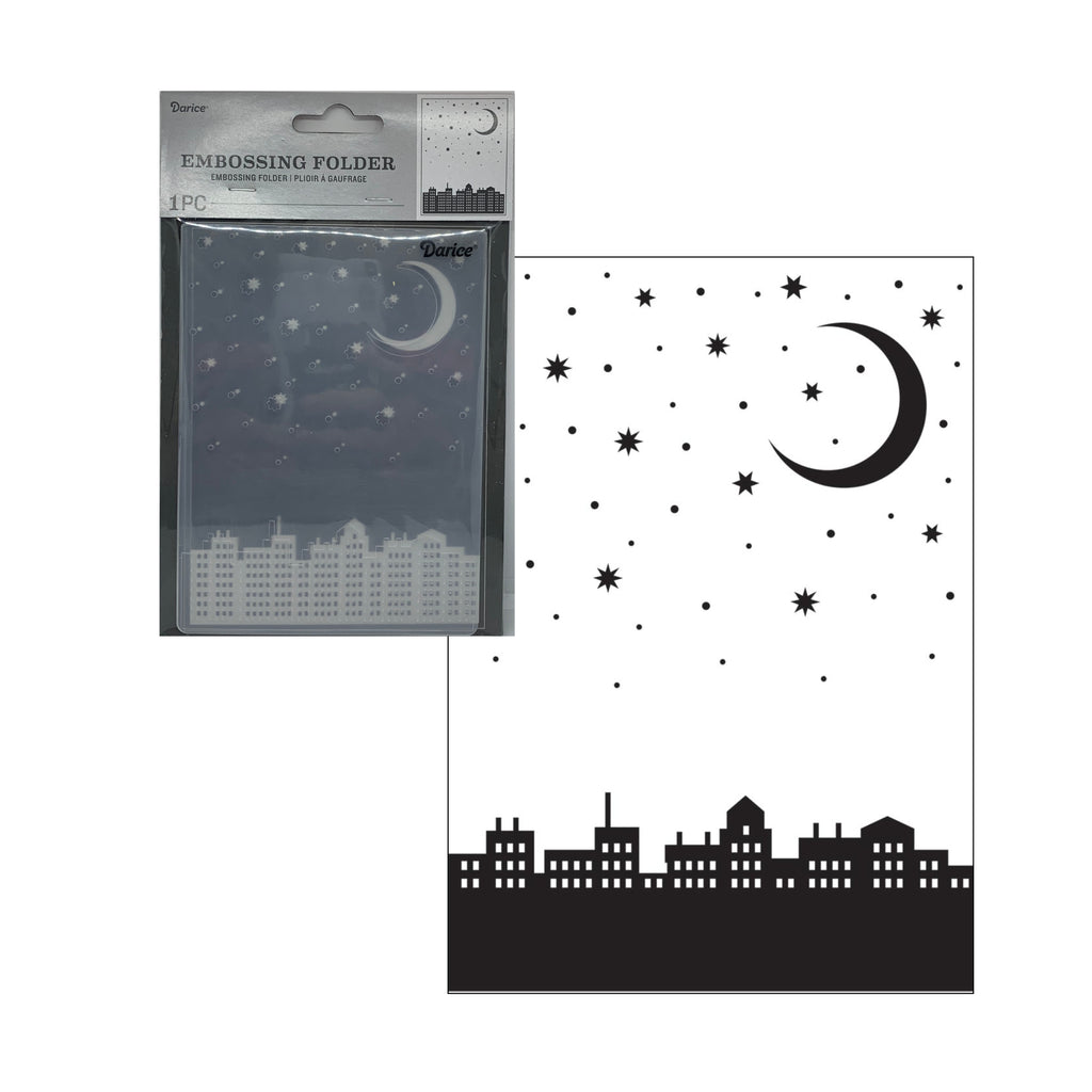 City Moon Embossing Folder by Darice Embossing Folders 30041351 - Inspiration Station Scrapbook Store & Retreat