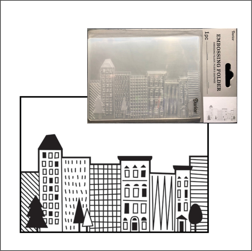 City Scene Embossing Folder by Darice Embossing Folders 30032592 - Inspiration Station Scrapbook Store & Retreat