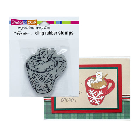 Cocoa Hot Tub Cling Rubber Stamp by Stampendous Stamps CRQ248 - Inspiration Station Scrapbook Store & Retreat