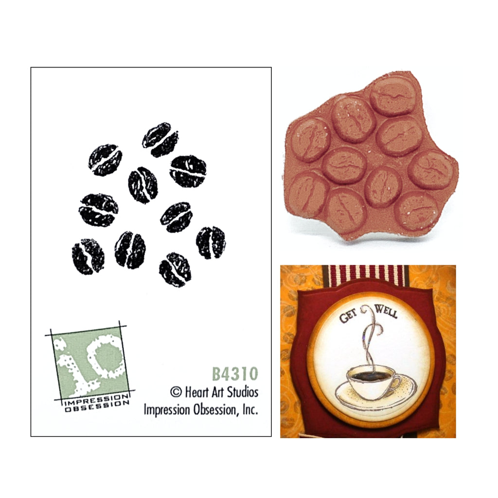 Coffee Beans Stamp by Impression Obsession B4310 - Inspiration Station Scrapbook Store & Retreat