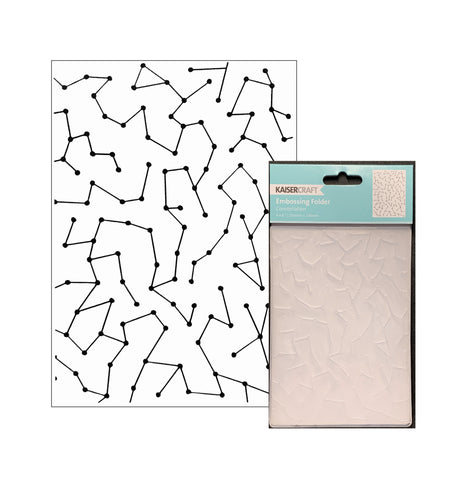Constellations Embossing Folder by Kaisercraft craft folders EF283