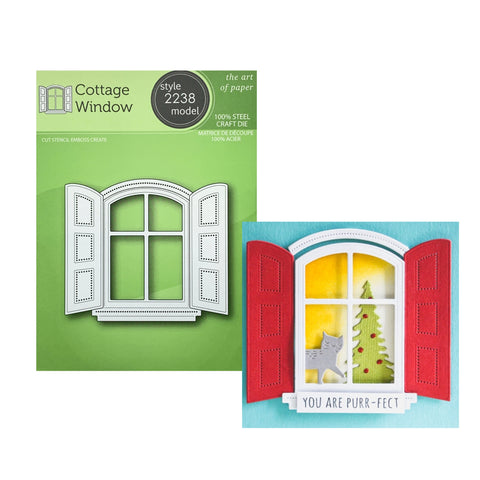 Cottage Window Metal Die Cut Set by Poppy Stamps Cutting Dies 2238