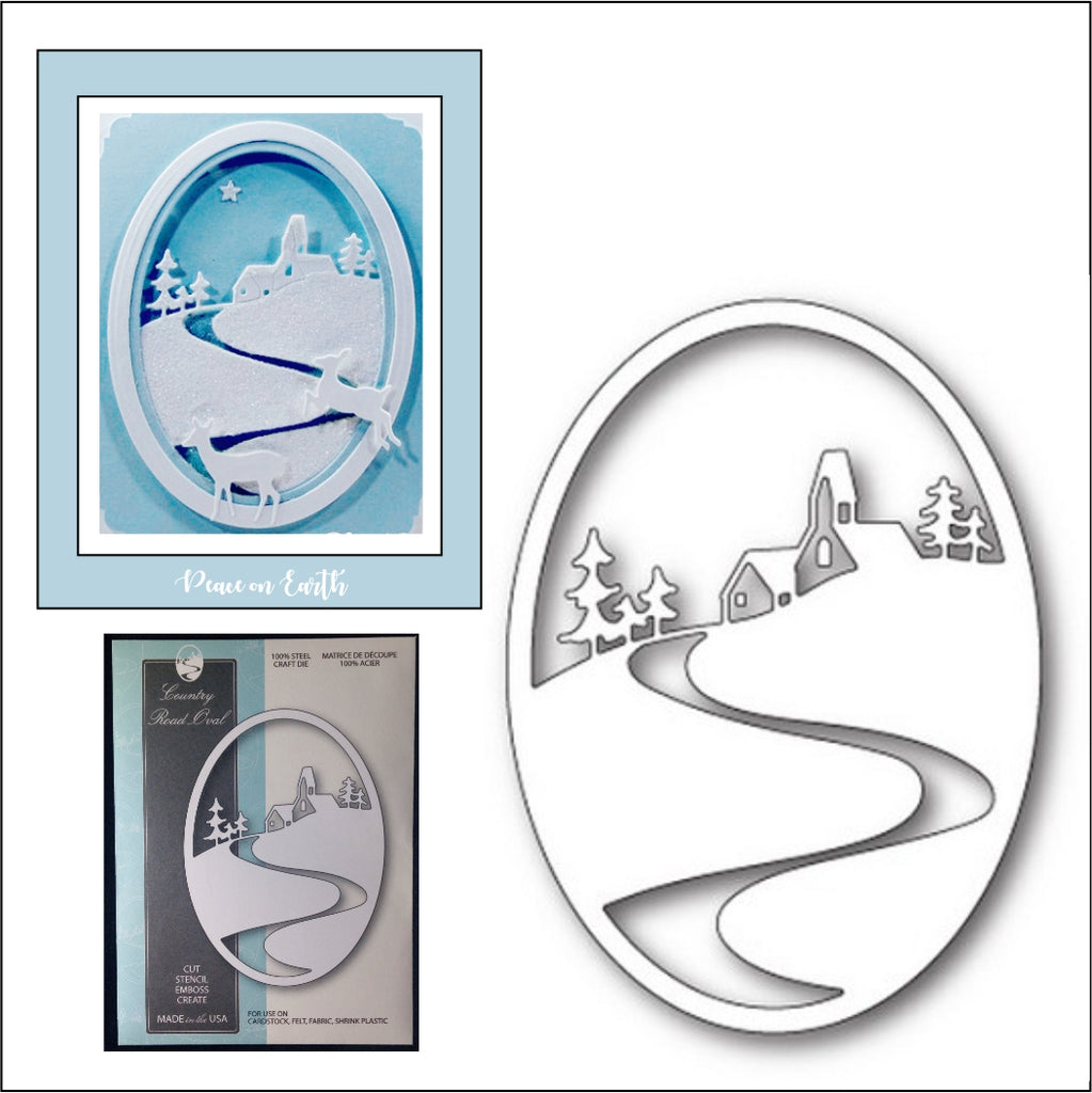 Country Road Oval Frame Die Cut by Memory Box Dies 99608 - Inspiration Station Scrapbook Store & Retreat