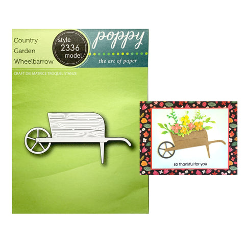 Country Garden Wheelbarrow Metal Die Cut by Poppystamps Cutting Dies 2336 - Inspiration Station Scrapbook Store & Retreat