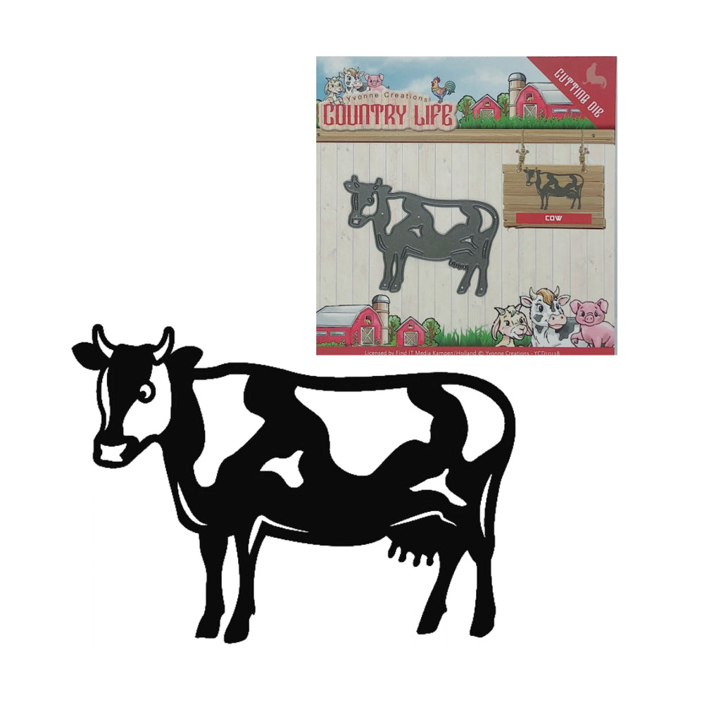 Cow Die Cut by Yvonne Creations YCD10128 - Inspiration Station Scrapbook Store & Retreat
