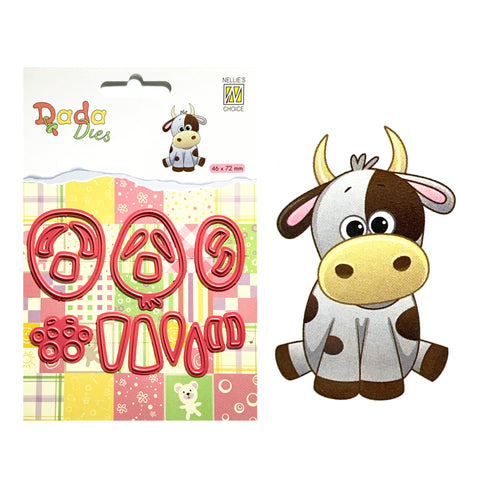 Cow metal die cut by Nellie Snellen Craft cutting dies DDD021