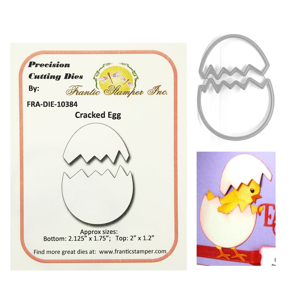 Cracked Egg Die Cut Set by Frantic Stamper FRA-DIE-10384 - Inspiration Station Scrapbook Store & Retreat