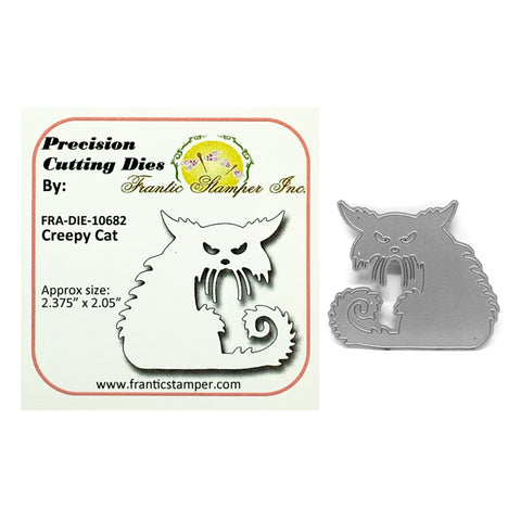 Creepy Cat Metal Die by Frantic Stamper Dies FRA-DIE-10682 - Inspiration Station Scrapbook Store & Retreat