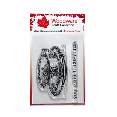 Cup of Tea Clear cling stamp set by Woodware craft stamps FRM006