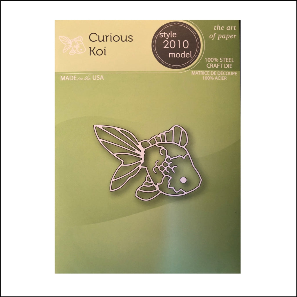 Curious Koi Die Cut by Poppystamps Dies 2010 - Inspiration Station Scrapbook Store & Retreat
