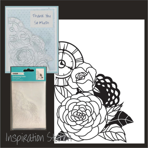 Floral Cluster embossing folder by Kaisercraft embossing folders EF251