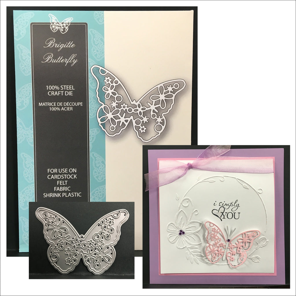 Brigitte Butterfly die 99440 - Memory Box cutting dies - Inspiration Station Scrapbook Store & Retreat