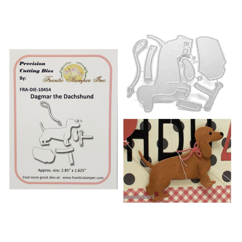 Dagmar The Dachshund Metal Die Cut Set by Frantic Stamper Dies FRA-DIE-10454 - Inspiration Station Scrapbook Store & Retreat