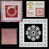 Dainty Dutch Deco Frame Square Metal Die Cut by Cheery Lynn Cutting Dies