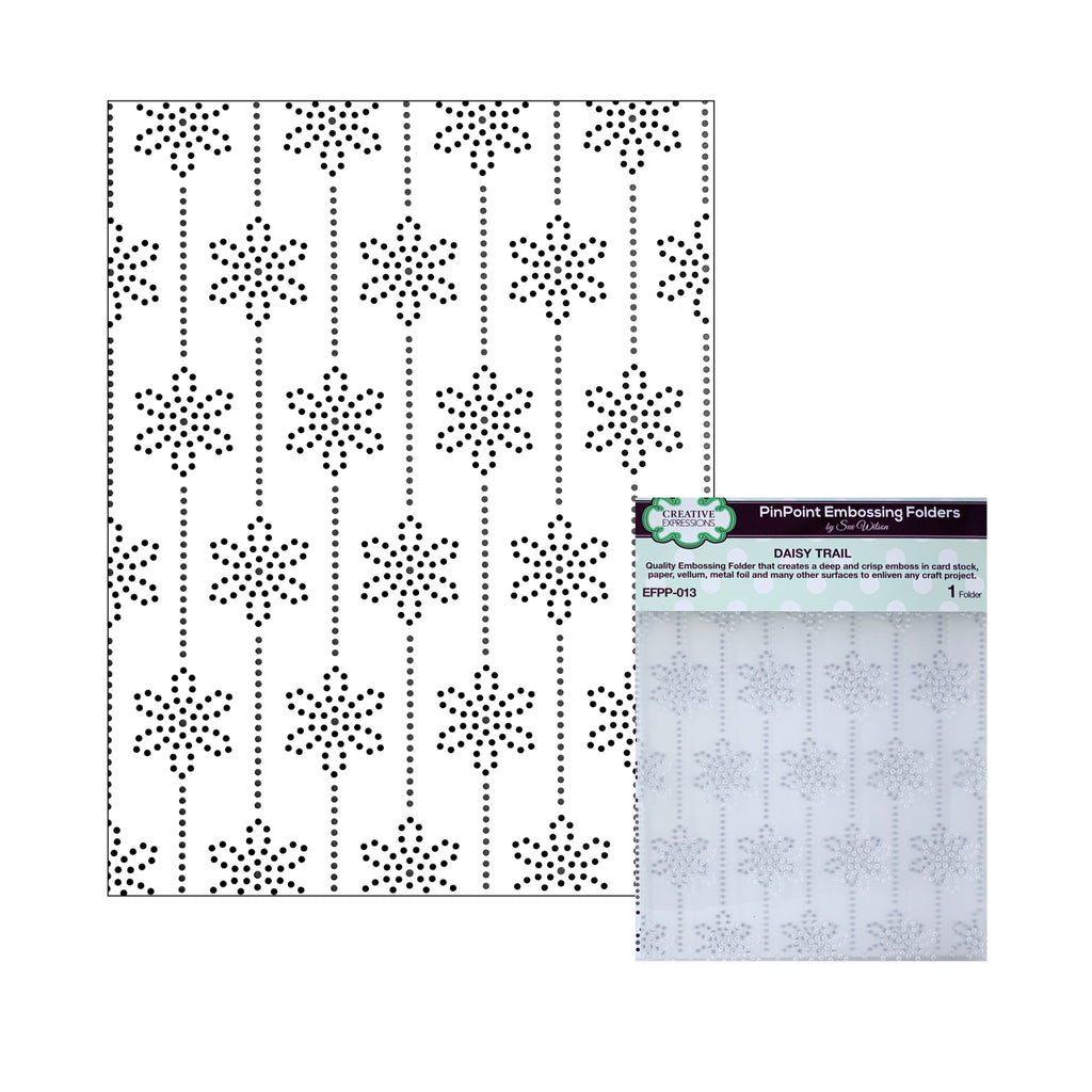 Daisy Trail PinPoint Embossing Folder by Creative Expressions Folders EFPP-013 - Inspiration Station Scrapbook Store & Retreat