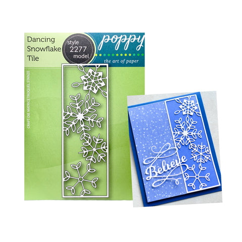 Dancing Snowflake Tile Metal Die Cut by Poppy Stamps 2277 - Inspiration Station Scrapbook Store & Retreat