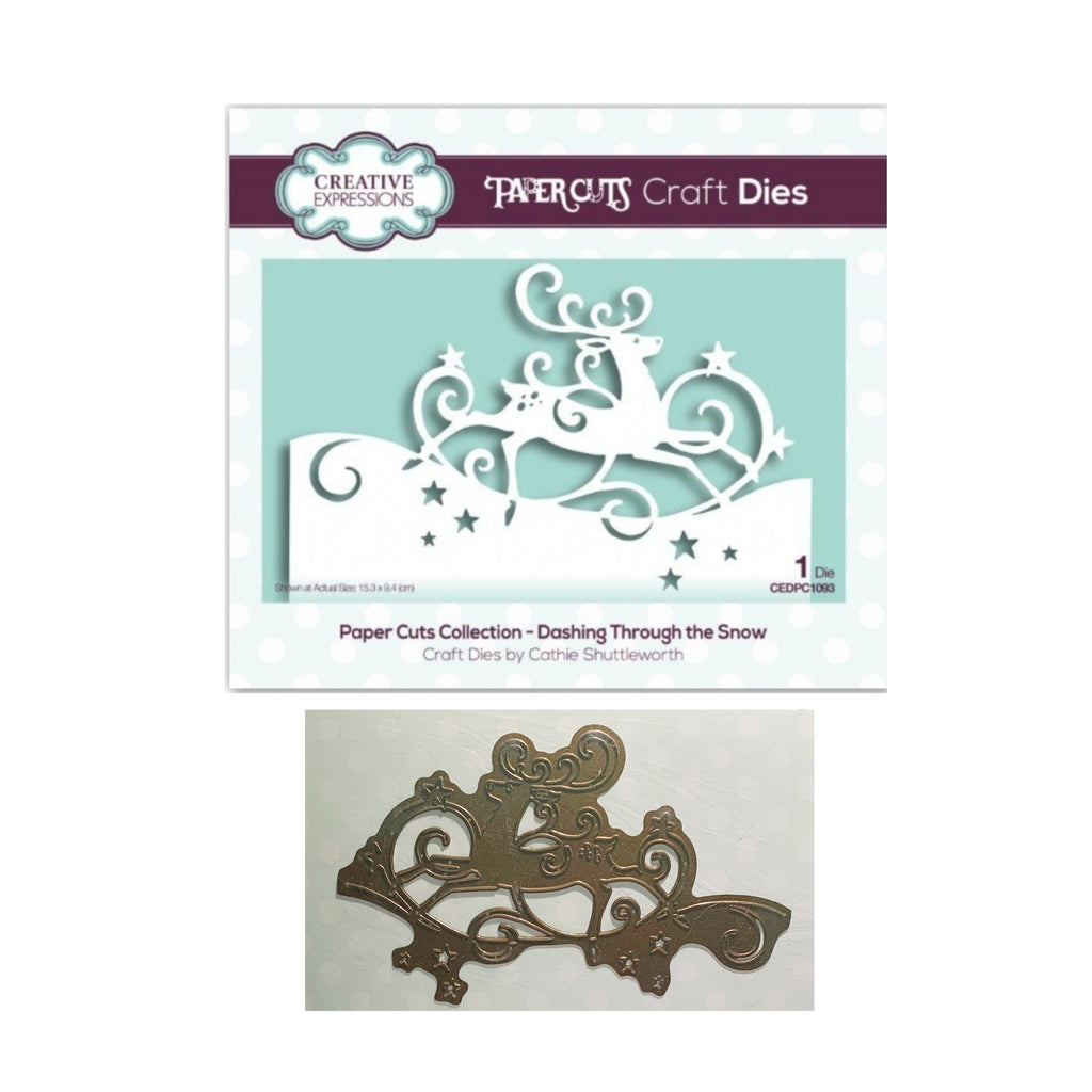 Dashing Through The Snow Edger Metal Die by Creative Expressions CEDPC1093 - Inspiration Station Scrapbook Store & Retreat