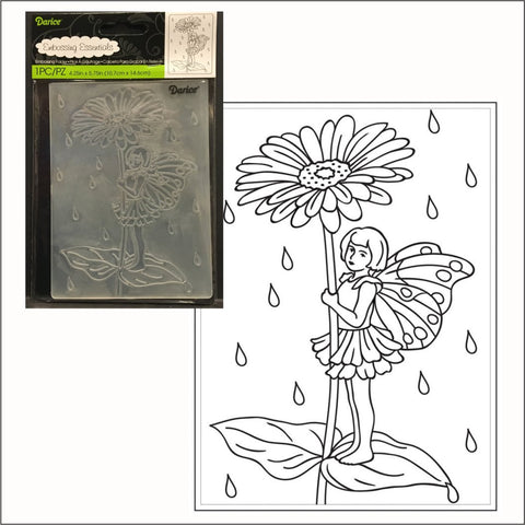 Fairy Garden with Daisy embossing folder by Darice embossing folders 30008396