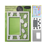 Decorated Egg Sidekick Frame and Stencil Metal Die Set by Poppystamps Dies 2182 - Inspiration Station Scrapbook Store & Retreat
