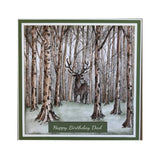 Deer in Forest Clear Stamp by Nellie Snellen Cling Craft Stamps