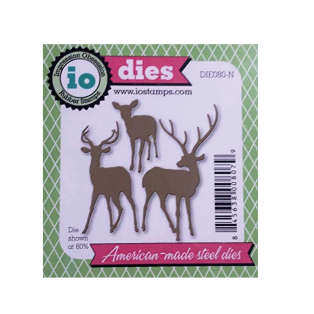 Deer Trio Metal Die Cut by Impression Obsession cutting dies