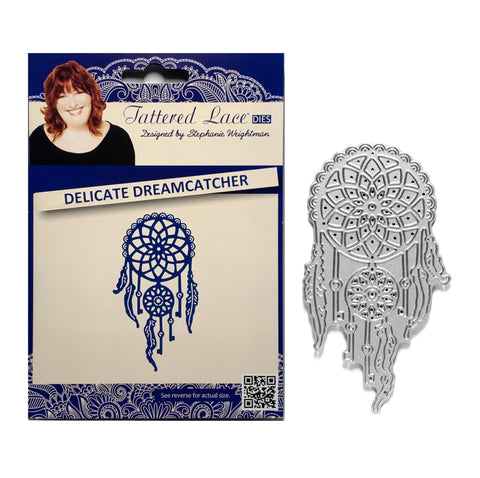 Delicate Dreamcatcher metal die cut by Tattered Lace Craft Dies