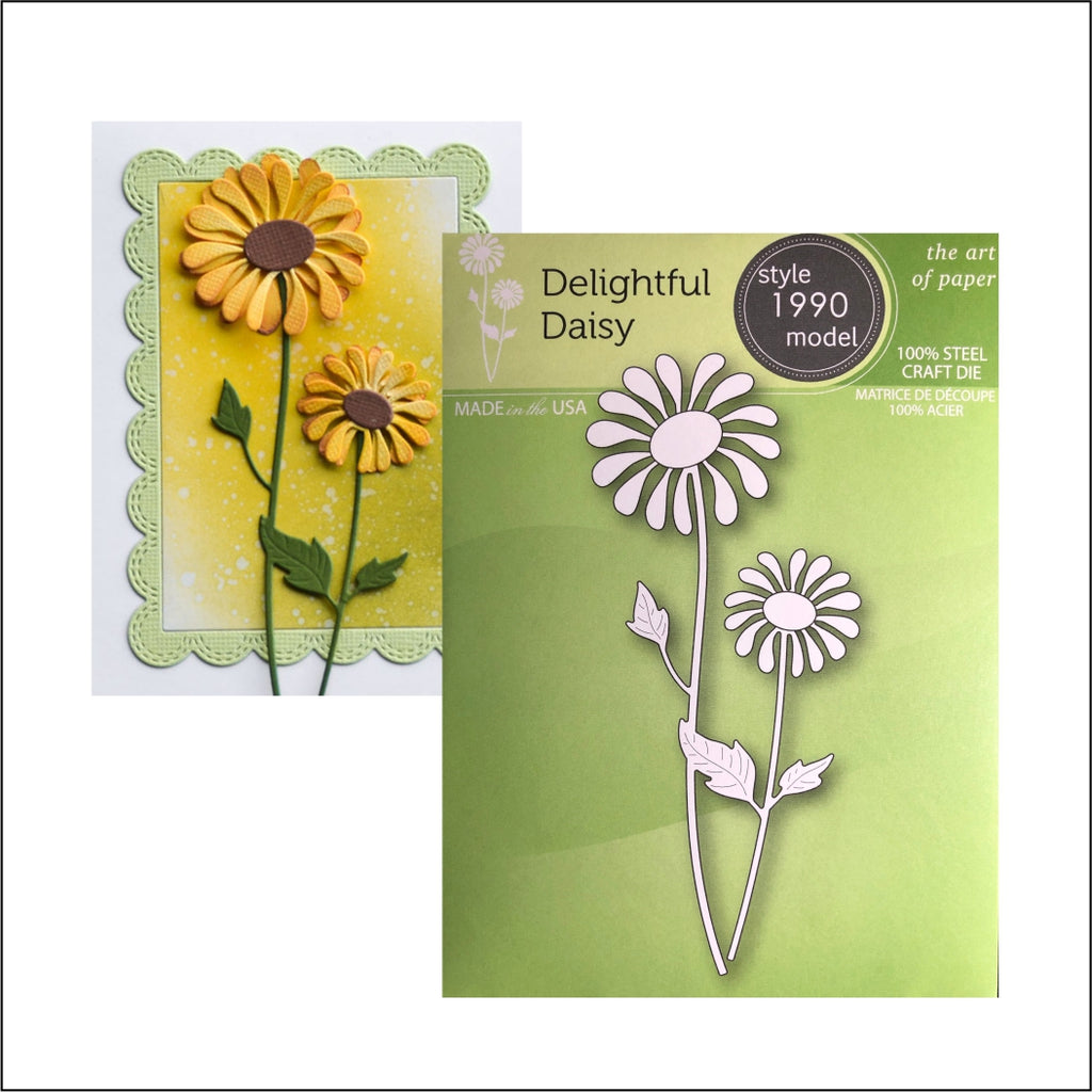 Delightful Daisy Die Cut by Poppystamps Dies 1990 - Inspiration Station Scrapbook Store & Retreat