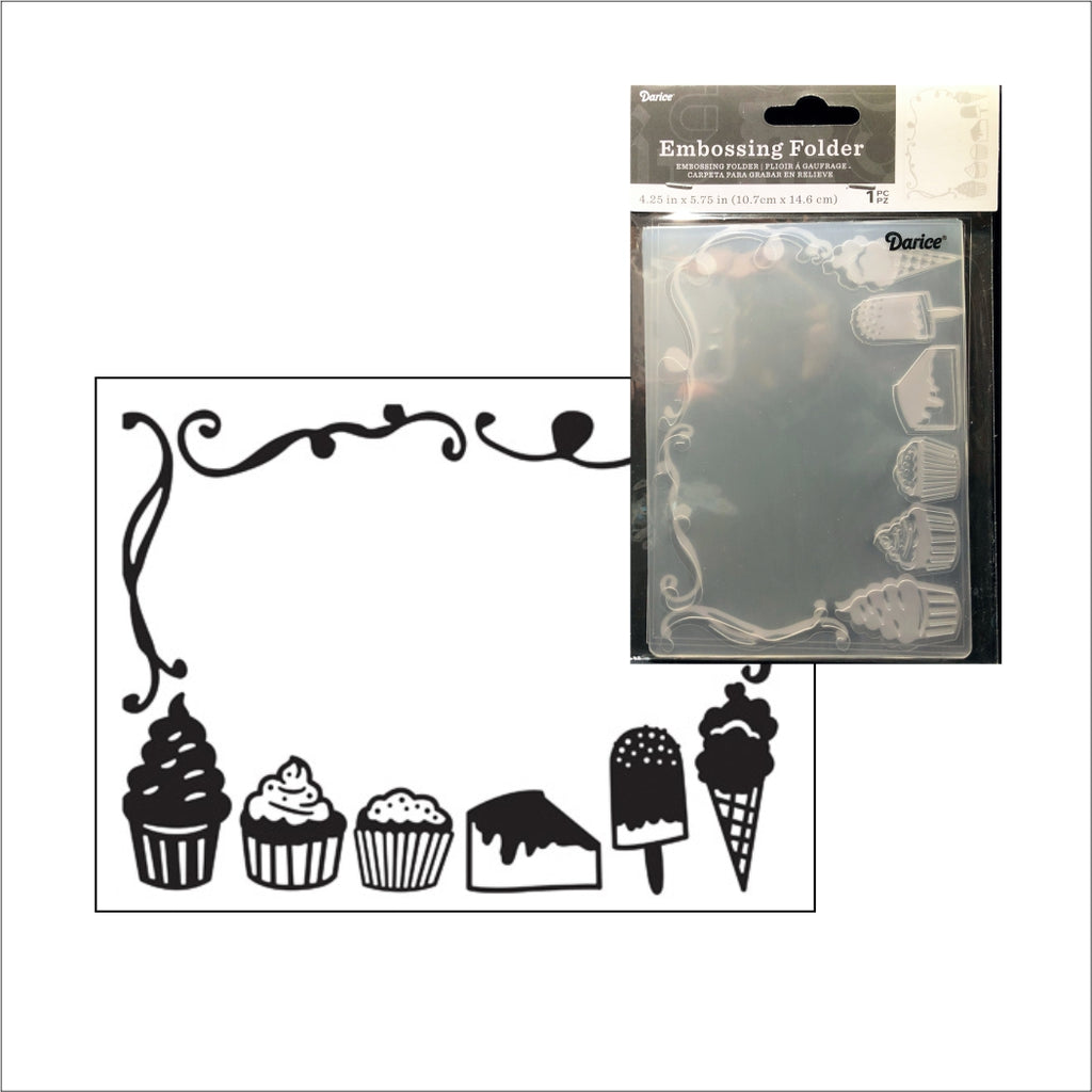 Desserts Embossing Folder by Darice Embossing Folders 30032543 - Inspiration Station Scrapbook Store & Retreat
