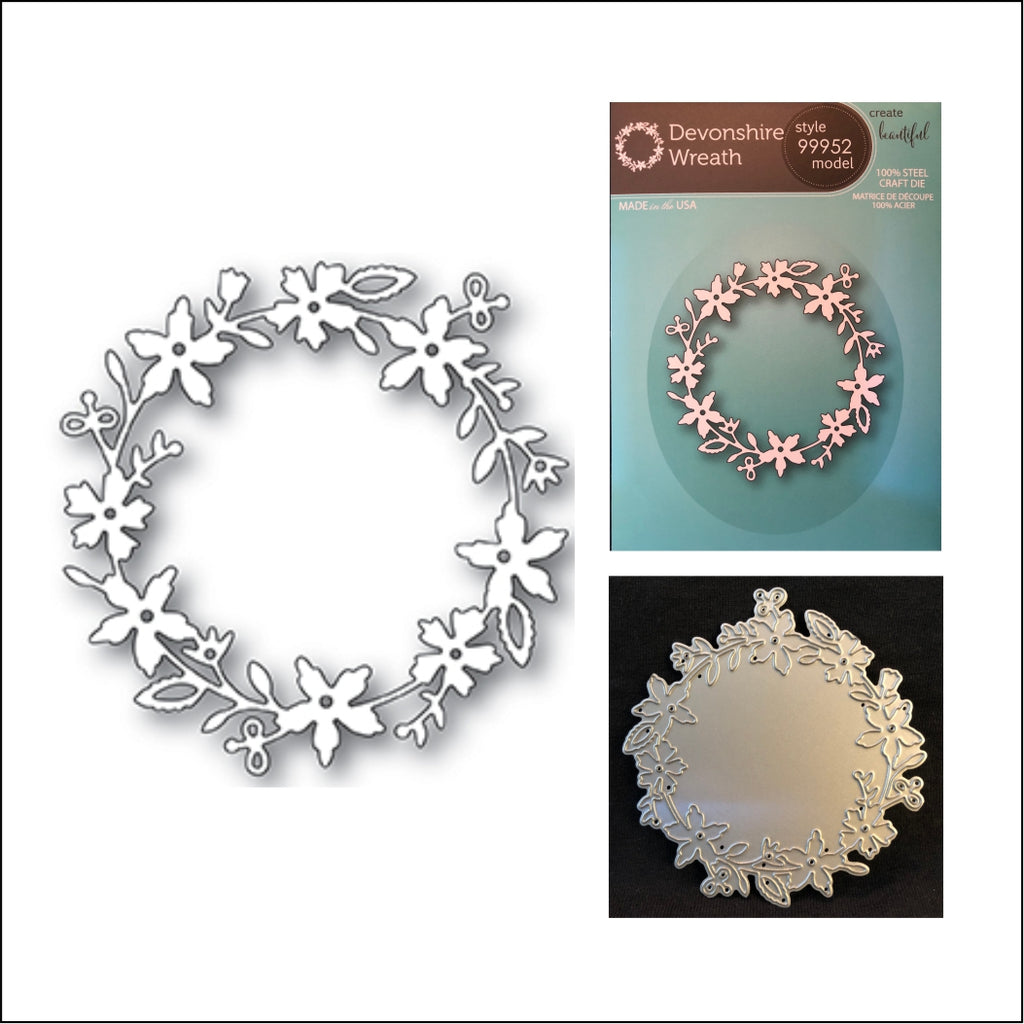 Devonshire Wreath Die Cut by Memory Box Dies 99952 -Inspiration Station Scrapbook Store & Retreat
