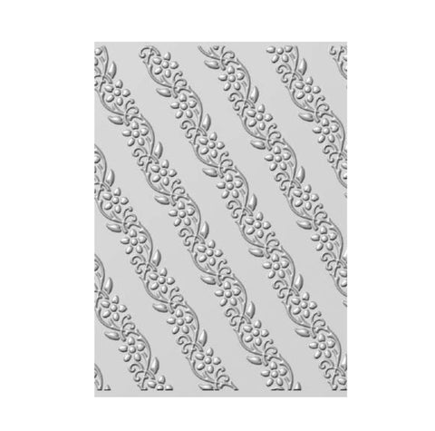 Diagonal Floral Vines 3D Embossing Folder by Creative Expressions Folders EF3D-029