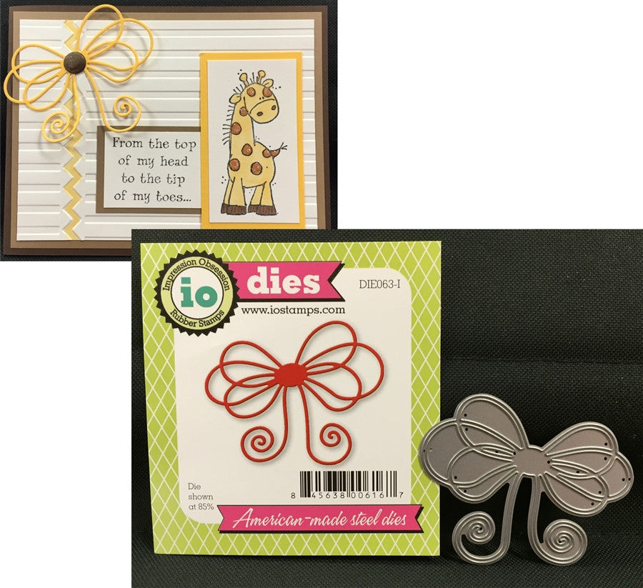 LARGE BOW die by IMPRESSION OBSESSION DIE063-I - Inspiration Station Scrapbook Store & Retreat