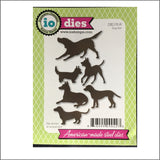 Dog Set Metal Cutting Die Set by Impression Obsession Dies DIE170-R - Inspiration Station Scrapbook Store & Retreat
