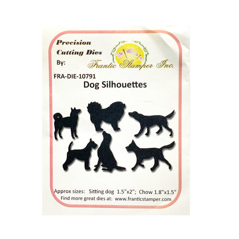 Dog Silhouettes Metal Die Cut Set by Frantic Stamper Dies FRA-DIE-10791