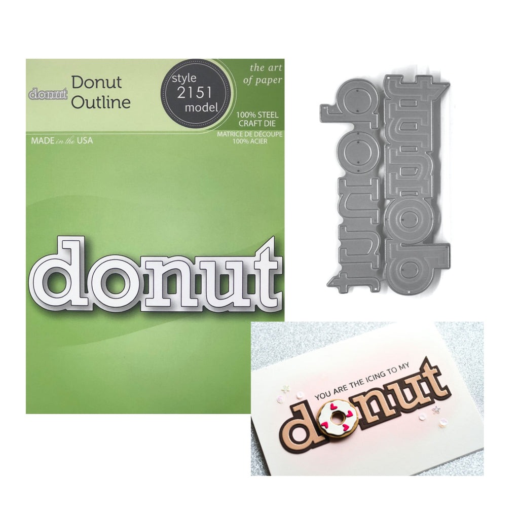Donut Outline Word Die Set by Poppystamps Dies 2151 - Inspiration Station Scrapbook Store & Retreat