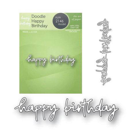 Doodle Happy Birthday Word Die Set by Poppystamps Dies 2146 - Inspiration Station Scrapbook Store & Retreat