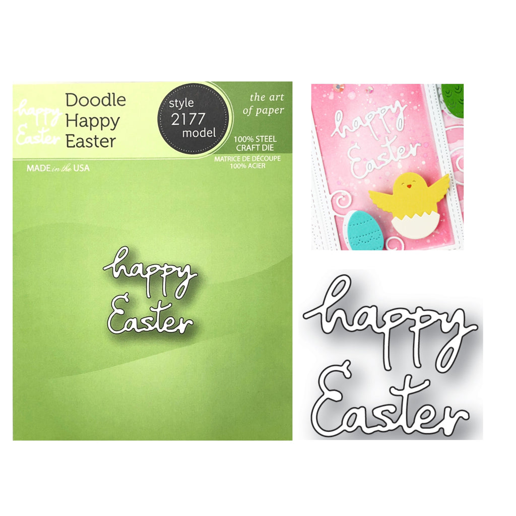 Doodle Happy Easter Word Die Cut Set by Poppystamps Dies 2177 - Inspiration Station Scrapbook Store & Retreat