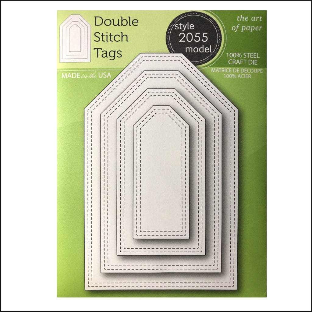 Double Stitch Tags Die Cut Set by PoppyStamps Dies 2055 - Inspiration Station Scrapbook Store & Retreat