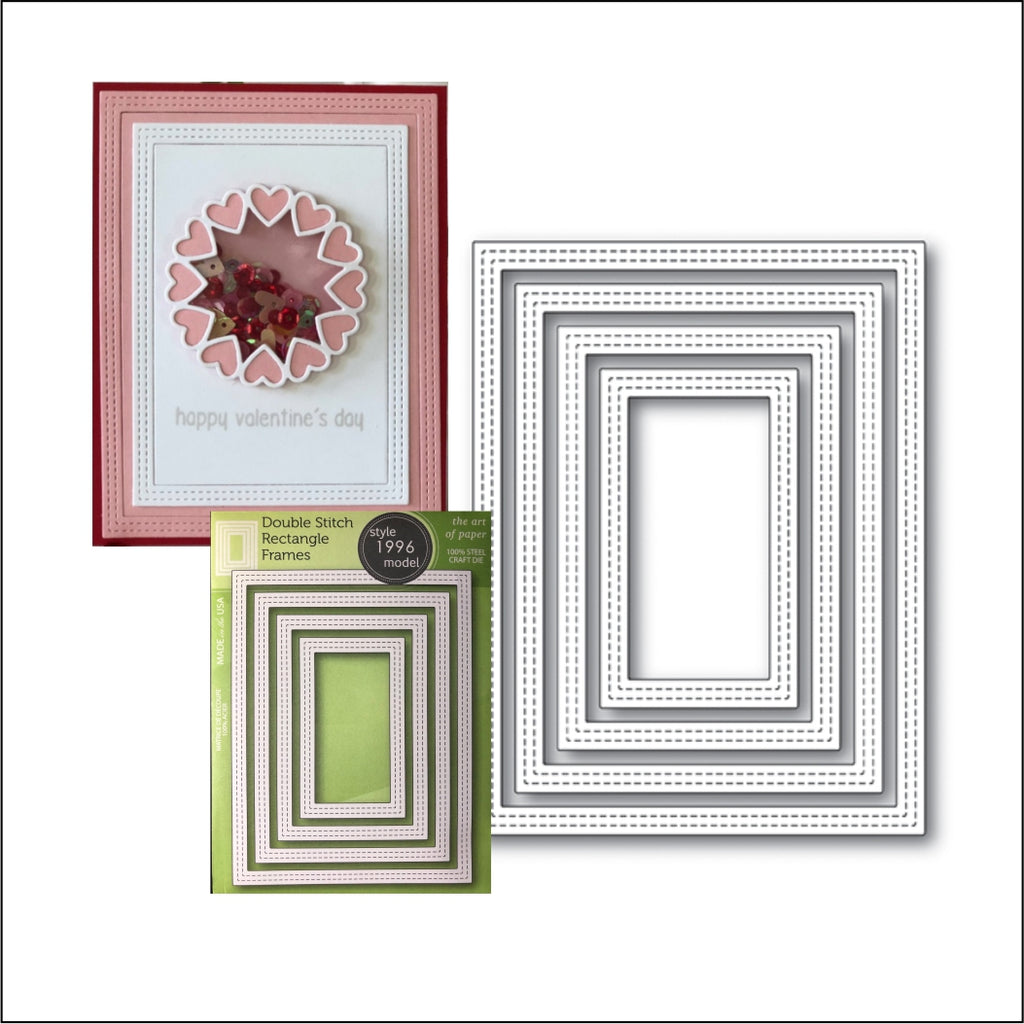 Double Stitch Rectangle Frames Die Cut Set by PoppyStamps Dies 1996 - Inspiration Station Scrapbook Store & Retreat