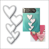 Double Stitched Hearts Die Cut by Memorybox Dies 99929 - Inspiration Station Scrapbook Store & Retreat