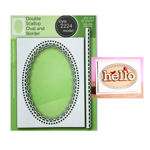 Double Scallop Oval and Border Metal Die Set by Poppystamps Dies 2224 - Inspiration Station Scrapbook Store & Retreat