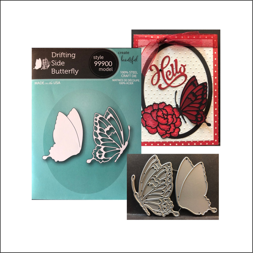 Drifting Side Butterfly Die Cut Set by Memory Box Dies 99900 - Inspiration Station Scrapbook Store & Retreat