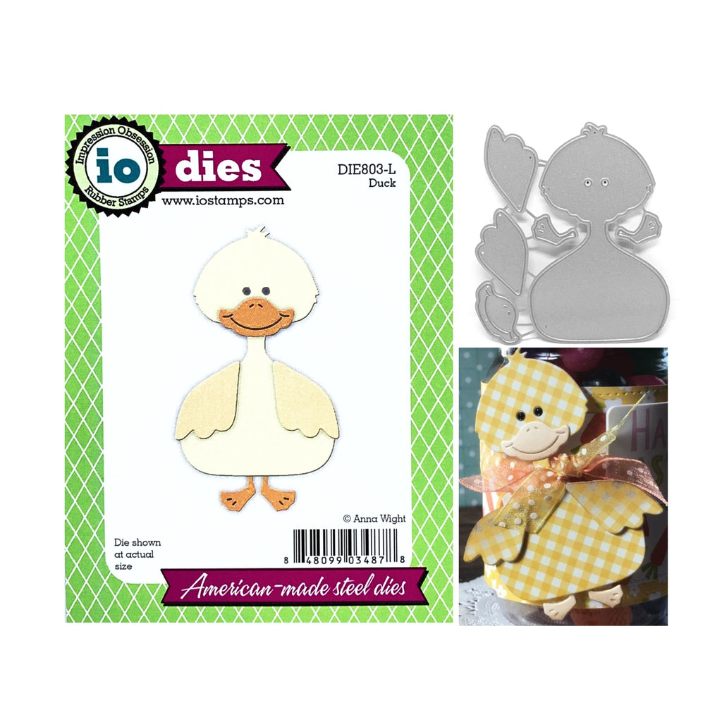 Duck Metal Die Cut Set by Impression Obsession Dies DIE803-L - Impression Obsession Scrapbook Store & Retreat