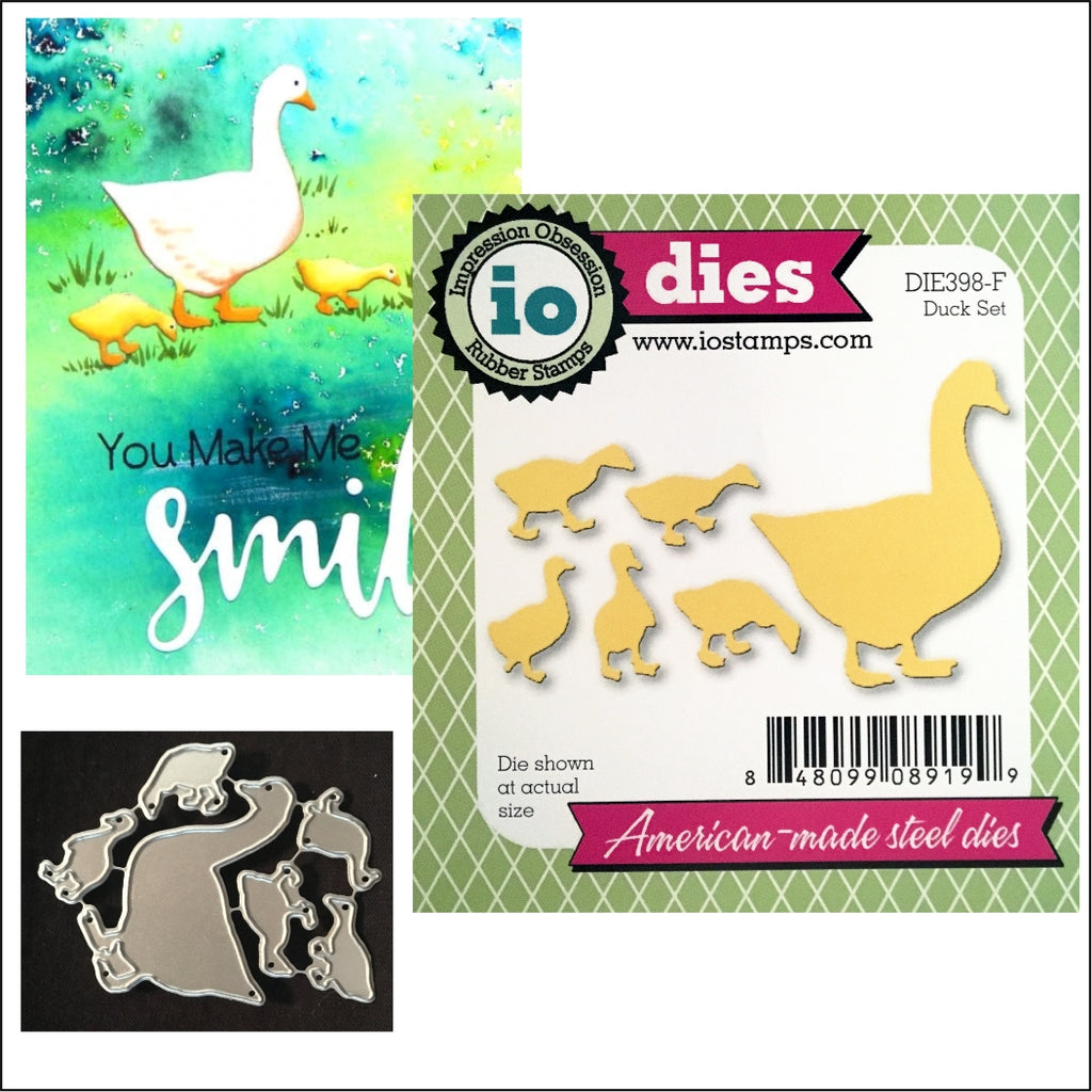 Duck Family Die Cut Set by Impression Obsession Dies DIE398-F - Inspiration Station Scrapbook Store & Retreat