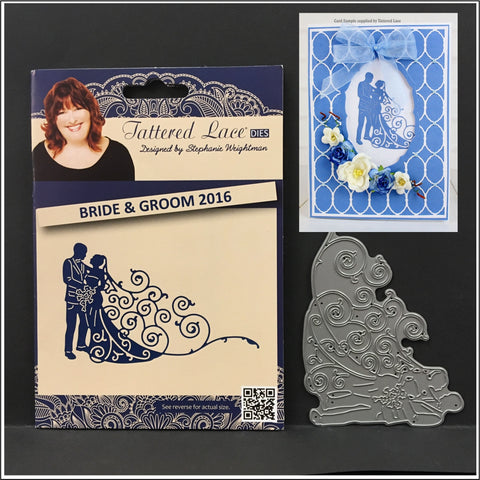 BRIDE AND GROOM 2016 metal die by Tattered Lace Dies D1385 for weddings