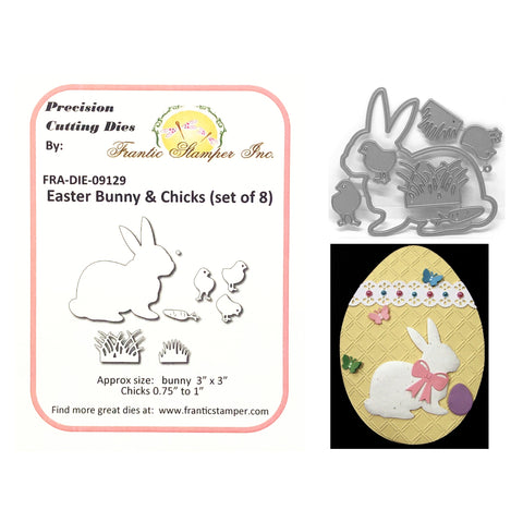 Easter Bunny & Chicks Metal Die Cut Set by Frantic Stamper FRA-DIE-09129 - Inspiration Station Scrapbook Store & Retreat