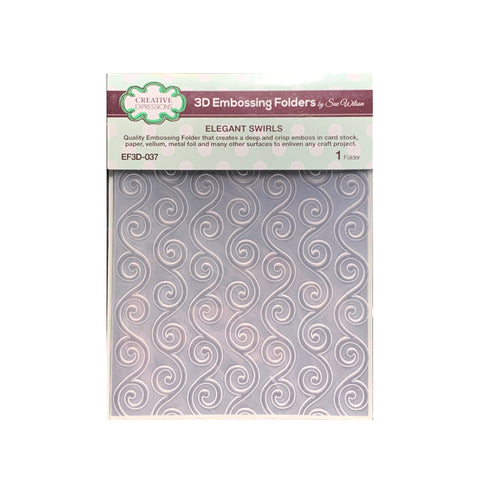 Elegant Swirls 3D Embossing Folder by Creative Expressions Folders EF3D-037