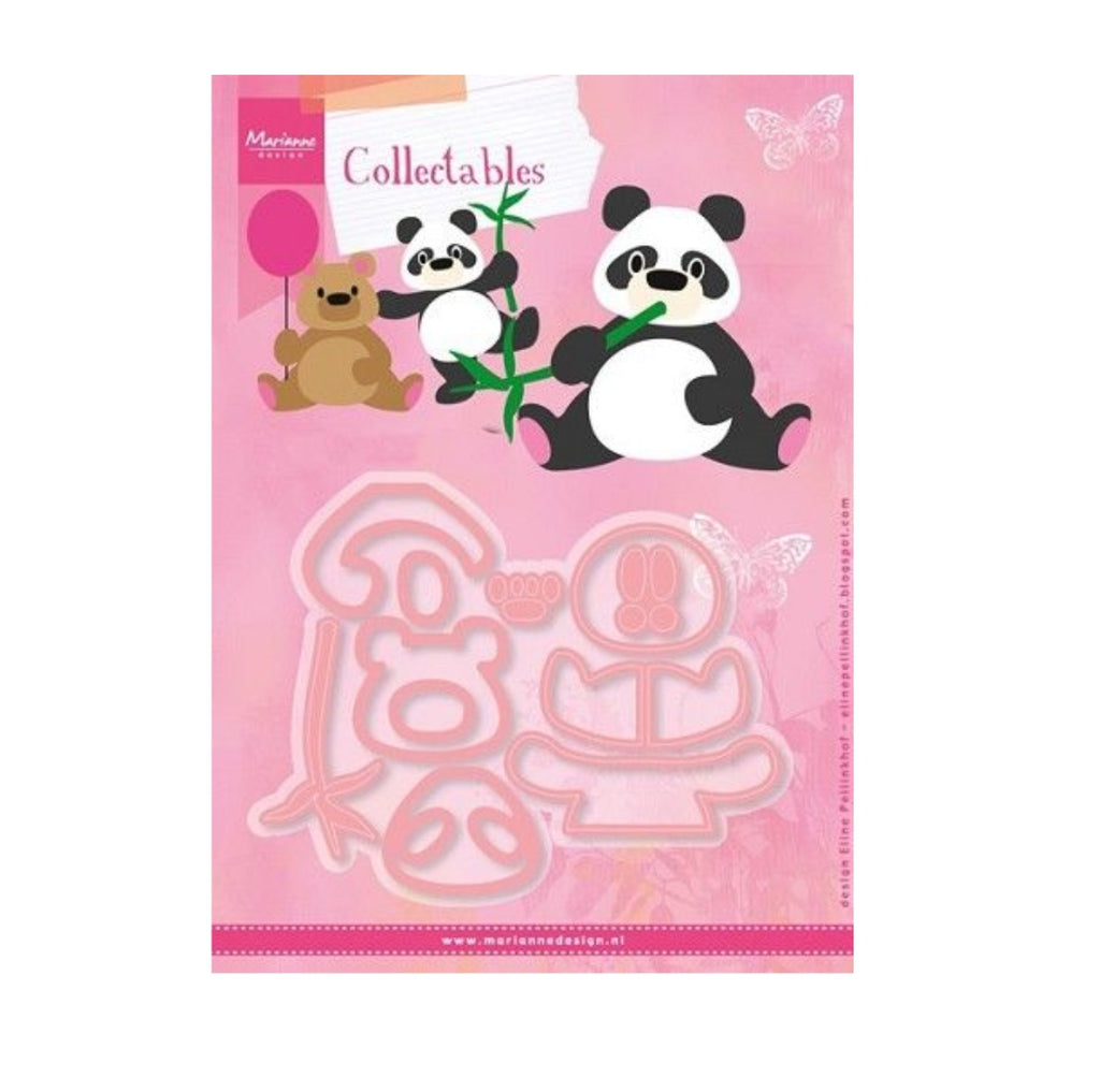 Eline's Panda & Bear Metal Die Cut Set by Marianne Design Dies COL1409 - Inspiration Station Scrapbook Store & Retreat
